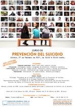 Curso en streaming de prevención del suicidio. 27 de febrero de 2021.