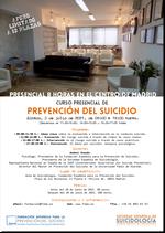 Curso presencial de prevención del suicidio. Madrid, 3 de julio de 2021.