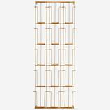 MADAM STOLTZ porte cartes postales - 15 compartiments - laiton et bambou - 31x97cm