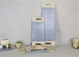 NKUKU Bwari longue planche de service - marbre gris - bois de manguier - 59,5x20,5x1,5cm