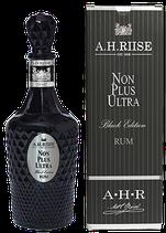 "A.H. Riise Rum Non Plus Ultra Black Edition 0,7ltr. ""streng limitiert""  AKTION ohne Karton !!"
