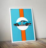 Poster: Porsche 911 930 Gulf Design