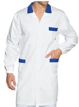 Camice Manica Lunga Uomo Bianco/Blu