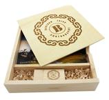 Holzbox für Danksagungskarten mit USB