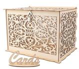 """Kartenbox aus Holz mit Schild """"Cards"""""""