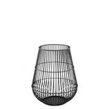 KAHEKU hohes Windlicht mit Glaseinsatz klein