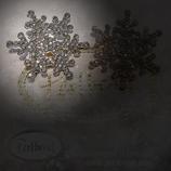 Brosche Snowflake Crystal silberfarben