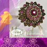 Brosche Vintage Pink Crocus Spring Flower