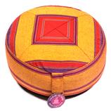 Meditatiekussen rood/oranje patroon multi