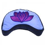 Meditatiekussen violet/blauw lotus halve maan