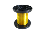 MSW 050206 100m Spule Kupferlackdraht Lackdraht gelb / gold 0,15mm
