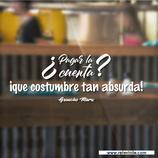 Hostelería - ¿Pagar la cuenta?