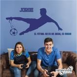 Personajes / Deportes / Futbolista con frase