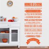 Cocinas - Normas de la Cocina y besito al Chef