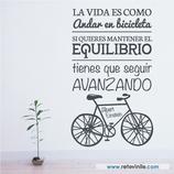 Textos y Frases - La vida es como andar en bicicleta