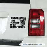 Pegatinas Guapas - 61 - Precaución Transformer