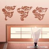 Arte - 3 Mascaras dragones chinos