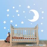Infantiles / Pequeñines / Estrellas y luna durmiente
