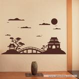 Arquitectura - Silueta Skyline Oriental