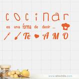 Azulejos - Cocinar es igual a amar