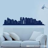 Arquitectura - Silueta Skyline de edificios con ventanas