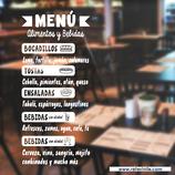 Hostelería - Menú Alimentos y Bebidas