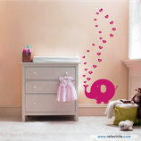 Infantiles / Medidores / Elefantita de corazones