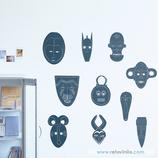 Arte - Mascaras africanas de ébano