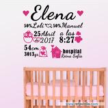 Infantiles Nacimiento - Saquito de corazones