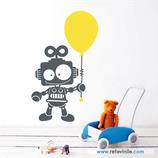 Infantiles / Pequeñines / Niño robot con globo