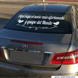 Bodas - Aquí viaja el novio más afortunado