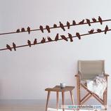 Animales - Cableado con pájaros observadores