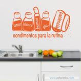 Cocinas - Condimentos de la rutina