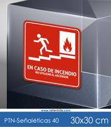 Señaléticas - No utilizar el ascensor