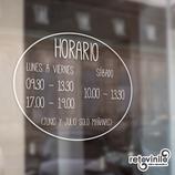 Horarios - Horario ovalado y sencillo
