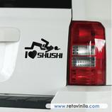 Pegatinas Guapas - 60 - I love Shushi