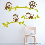 Infantiles / Pequeñines / Monos sobre ramas