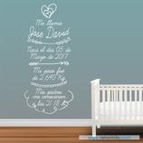 Infantiles Nacimiento - Corazón dibujado