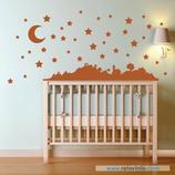 Infantiles / Pequeñines / Paisaje de luna y estrellas