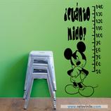 Infantiles / Medidores / ¿Cuánto mide Mickey?