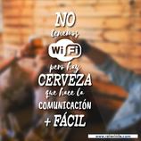 Hostelería - No wifi, Si cerveza