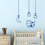 Infantiles / Pequeñines / Vaquita entre luna y estrellas