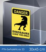 Señaléticas - Danger Dinosaurs