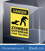 Señaléticas - Danger Zombie