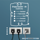 Enchufes - Organizador de cables