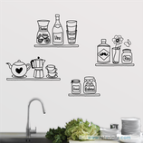 Cocinas - Estanterías dibujadas a mano