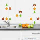 Azulejos - Frutas sonrientes