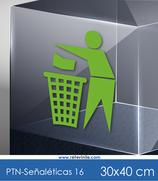 Señaléticas - Usa la papelera