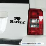 Pegatinas Guapas - 33 - I love Haters!