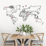 Mapas - Mapamundi para viajar y tachar
